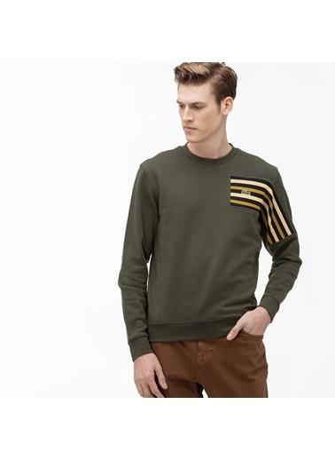 Lacoste Erkek Relax Fit Sweatshirt SH8599.S7T Yeşil